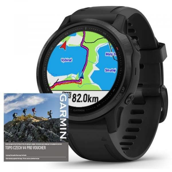 Garmin Fenix 6S PRO Glass Black/Black Band (MAP/Music)