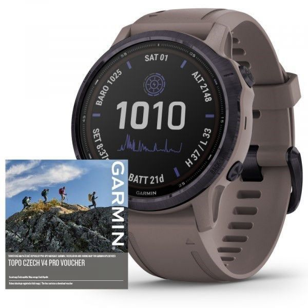 Garmin Fenix 6S PRO Solar Amethyst/Shale Band (MAP/Music)