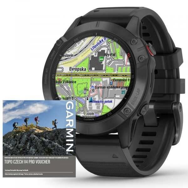 Garmin fenix6 PRO Glass, Black/Black Band