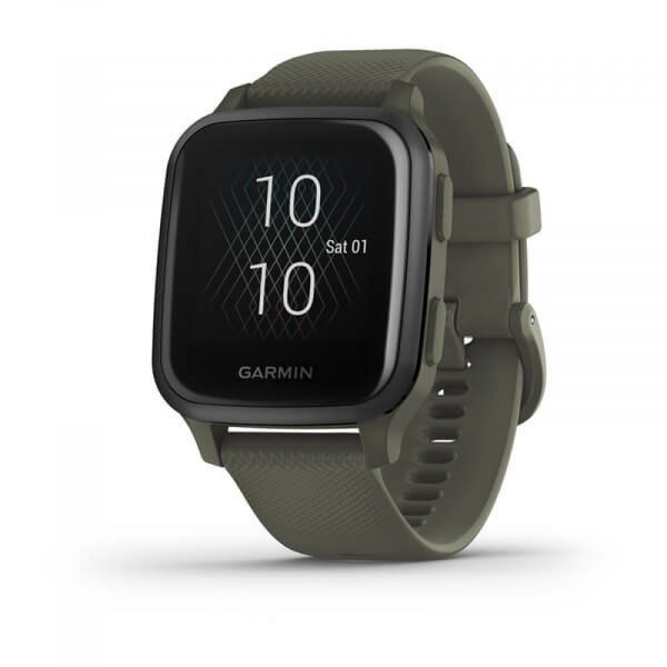 Garmin Venu Sq Music Slate/Green Band